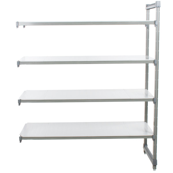 """Cambro EA184884S4580 Camshelving Elements 4 Shelf Solid Add On Unit - 18"""" x 48"""" x 84"""""""