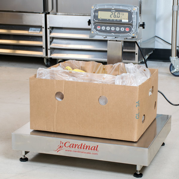 Cardinal Detecto EB-300-190 300 lb. Electronic Bench Scale with 190 Indicator, Legal for Trade
