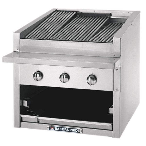 """Bakers Pride C-24GS Natural Gas 24"""" Glo Stone Charbroiler - 108,000 BTU"""