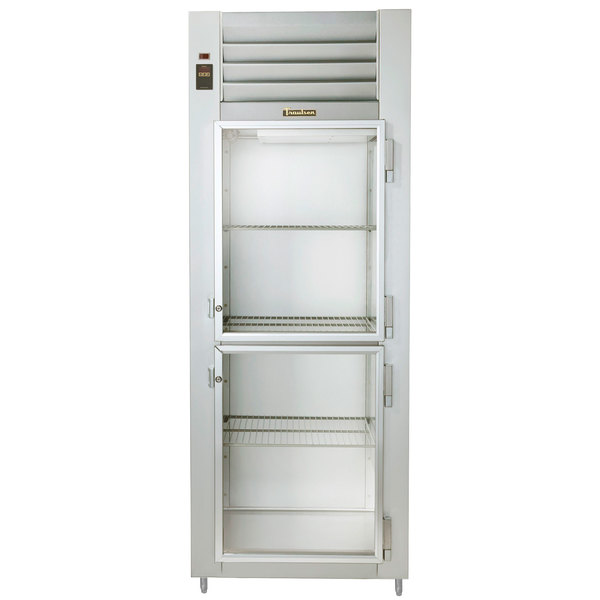 Traulsen AHF132WP-HHG 26.1 Cu. Ft. Glass Half Door Single Section Reach In Pass-Through Heated Holding Cabinet - Specification Line