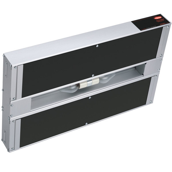 """Hatco GRAIHL-18D 18"""" Glo-Ray Double Infra-Black Strip Warmer with Lights, Remote Controls, and 3"""" Spacer - 120V, 820W"""