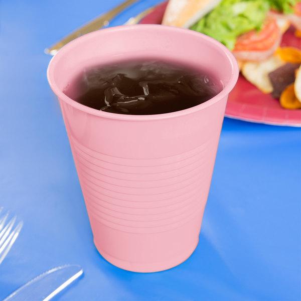 Creative Converting 28158081 16 oz. Classic Pink Plastic Cup - 240/Case