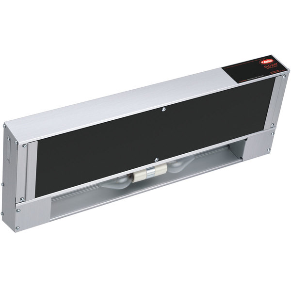 """Hatco GRAIHL-18D 18"""" Glo-Ray Double Infra-Black Strip Warmer with Lights, Remote Controls, and 3"""" Spacer - 120/240V, 820W"""