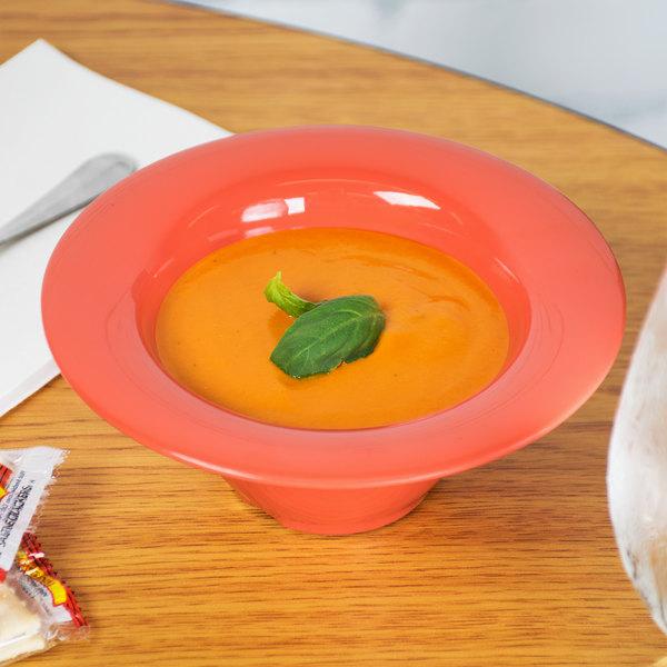 GET SN-108-RO 10 oz. Rio Orange Melamine Wide Rim Bowl - 24/Case
