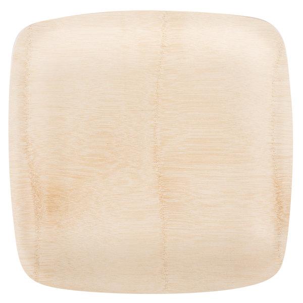 Bambu 064400 11 inch Disposable Square Bamboo Tray - 25/Pack