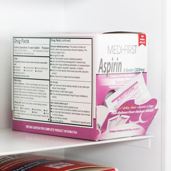 Medi-First 80533 Aspirin Tablets - 100/Box