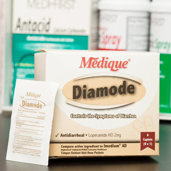 Medique 20069 Diamode Antidiarrheal Caplets - 6/Box
