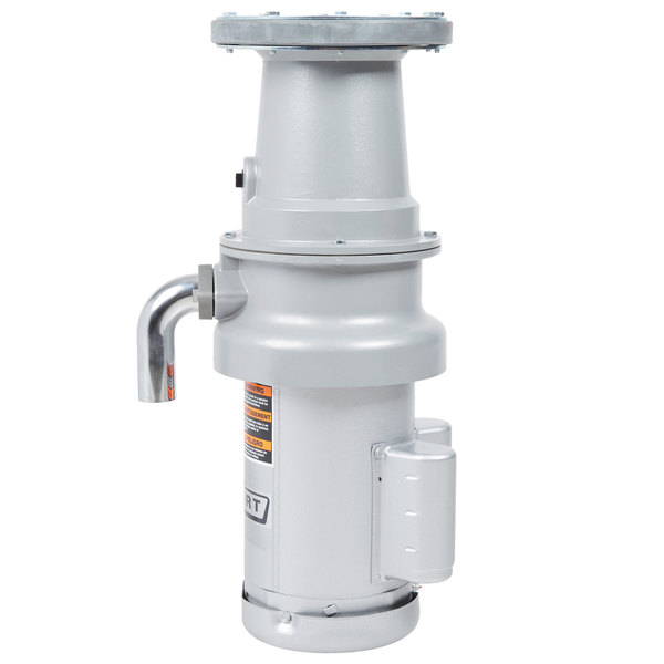 Hobart FD4/125-4 Commercial Garbage Disposer with Long Upper Housing - 1 1/4 hp, 120/208-240V Main Image 1