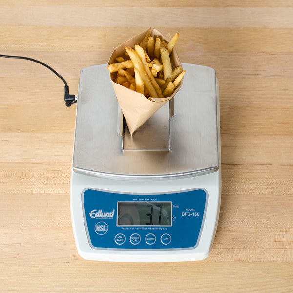 Edlund DFG-160FF 10 lb. Digital Portion Scale with Stainless Steel French Fry Platform