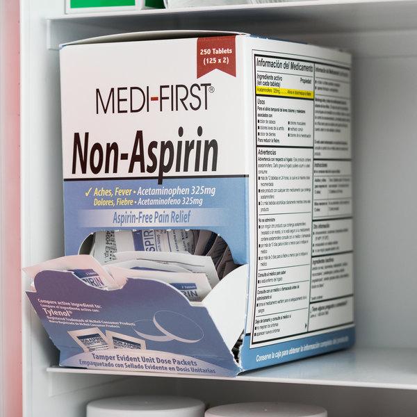 Medi-First 80348 Non-Aspirin Acetaminophen Tablets - 250/Box