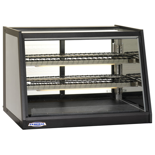 """Federal Industries EH-3628 Elements 35"""" Heated Countertop Display Cabinet - 6.12 Cu. Ft."""