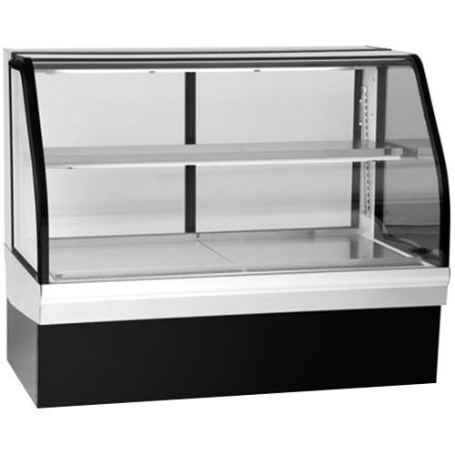 """Federal Industries ECGR-77CD Elements 77"""" Curved Glass Refrigerated Deli Display Case - 20.33 Cu. Ft."""