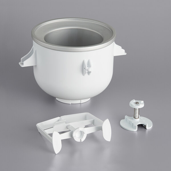 KitchenAid KICA0WH Ice Cream Maker Attachment for Residential KitchenAid Stand Mixers Main Image 1