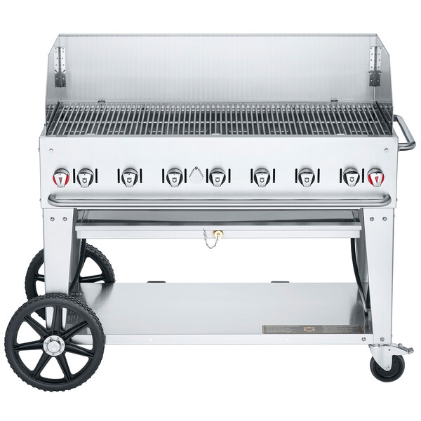 """Crown Verity MCB-48WGP Natural Gas 48"""" Mobile Outdoor Grill with Wind Guard Package Main Image 1"""