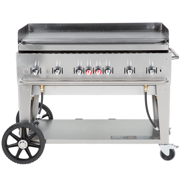 "Crown Verity MG-48 Natural Gas 48"" Portable Outdoor Griddle"