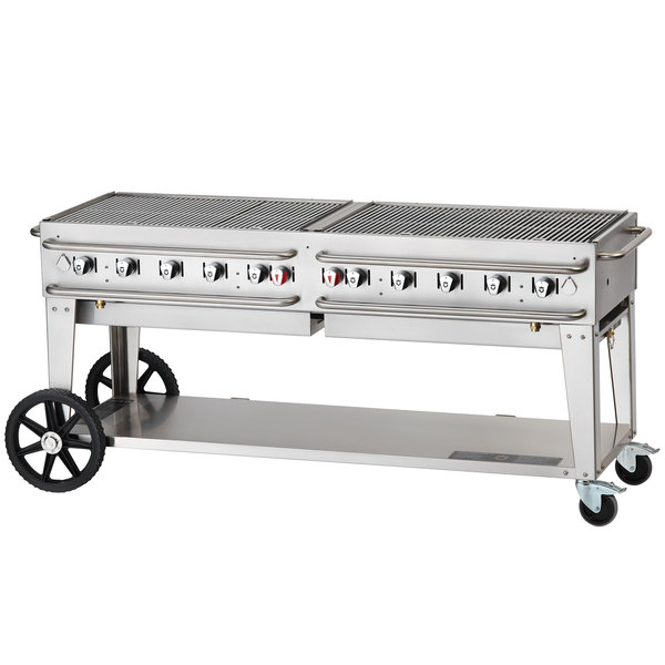 "Crown Verity RCB-72-SI-LP 72"" Pro Series Outdoor Rental Grill with Single Gas Connection"