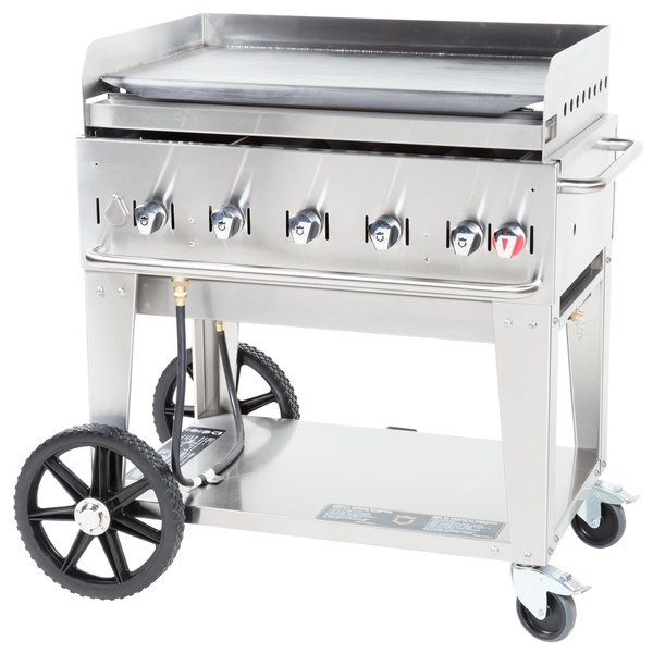 """Crown Verity MG-36 Natural Gas 36"""" Portable Outdoor Griddle Main Image 1"""