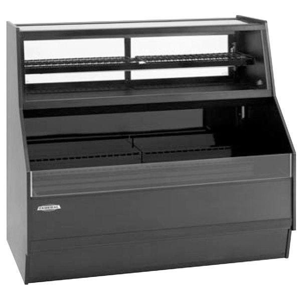 "Federal Industries ESSRC-5052 Elements Black 50"" Air Curtain Merchandiser with Convertible Top - 14.4 Cu. Ft."