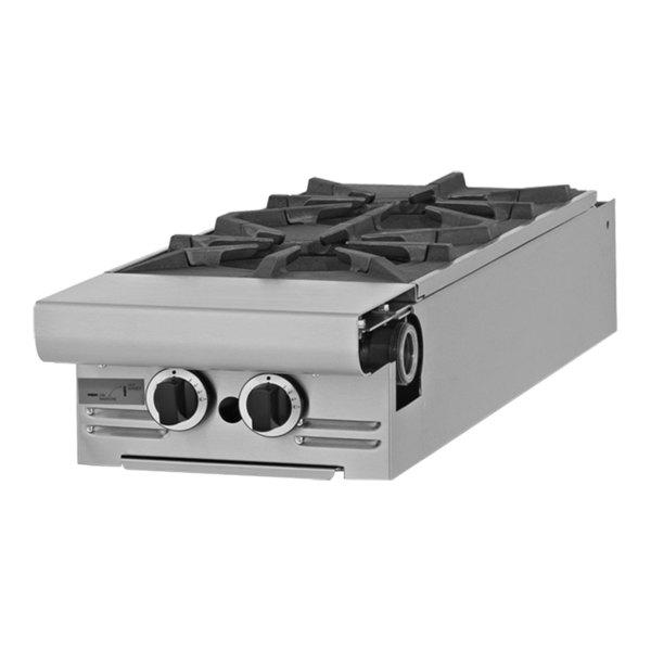 "Garland M4T Master Series Natural Gas 2 Burner Modular Top 17"" Range Attachment - 70,000 BTU"