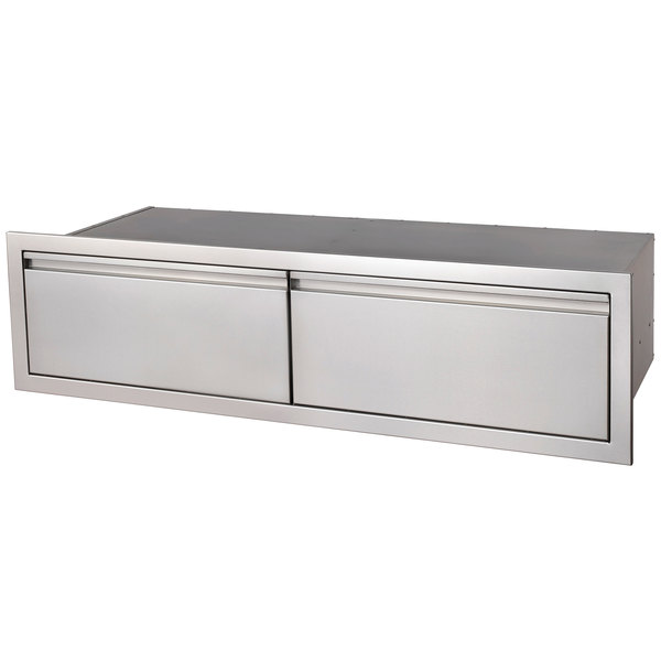 """Crown Verity ES-HD2-48 48"""" Built-In Storage Compartment with 2 Drawers Main Image 1"""