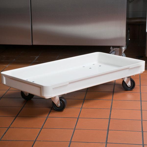 "MFG Tray 805148-5269 16"" x 30"" White Fiberglass Dough Proofing Box Dolly"