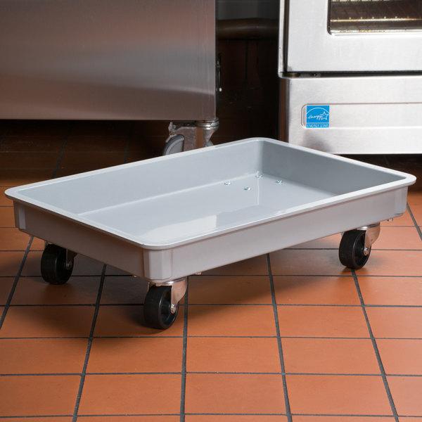 "MFG Tray 87014851361075 18"" x 26"" Gray Fiberglass Dough Proofing Box Dolly Main Image 7"