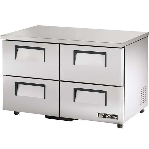 True TUC-48D-4-ADA 48 inch ADA Height Undercounter Refrigerator with Four Drawers