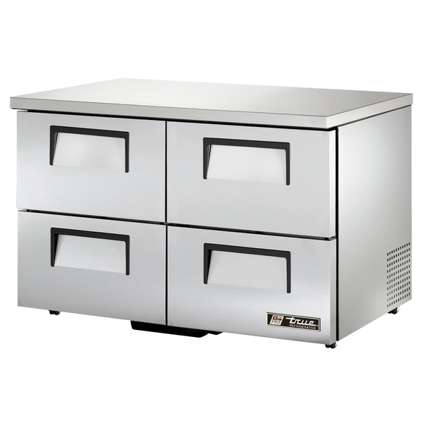 True TUC-48D-4-LP 48 inch Low Profile Undercounter Refrigerator with Four Drawers