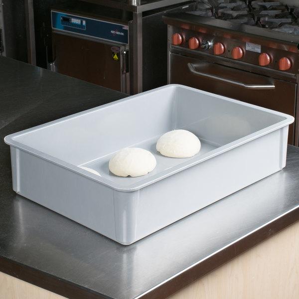 "MFG Tray 878008-5136 Gray Fiberglass Dough Proofing Box - 18"" x 26"" x 6"""