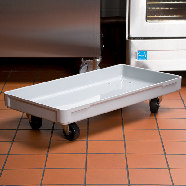"MFG Tray 805148-5136 16"" x 30"" Gray Fiberglass Dough Proofing Box Dolly"