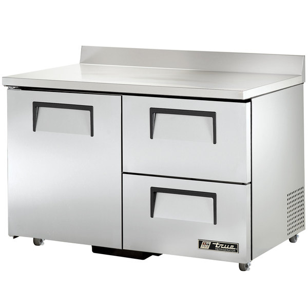 True TWT-48D-2-ADA 48 inch Deep ADA Compliant Work Top Refrigerator with Two Drawers and One Door - 12 Cu. Ft.