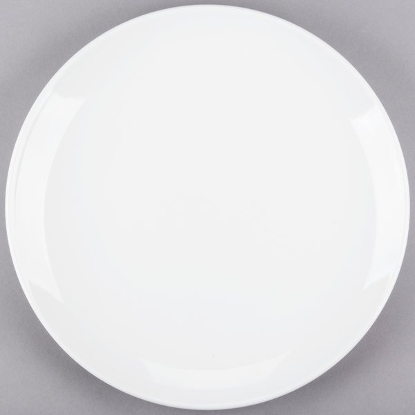 World Tableware 840-445C Porcelana Coupe 12 1/4 inch Bright White Round Porcelain Plate - 12/Case