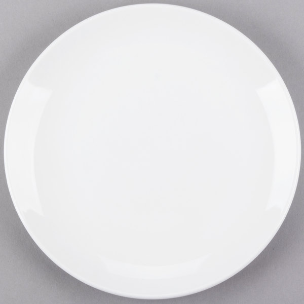 World Tableware 840-423C Porcelana Coupe 8 1/4 inch Round Bright White Porcelain Plate - 24/Case