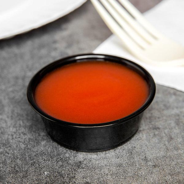 Choice 1.5 oz. Black Plastic Souffle Cup / Portion Cup - 2500/Case