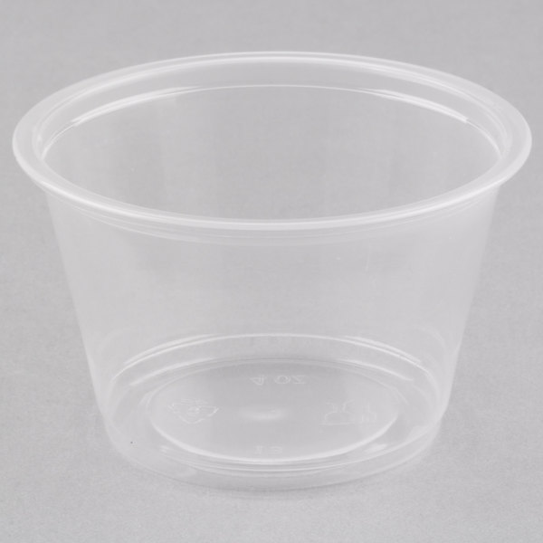 Choice 4 oz. Clear Plastic Souffle Cup / Portion Cup  - 100/Pack