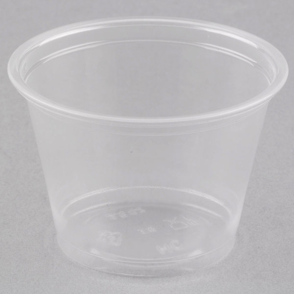 Choice 2.5 oz. Clear Plastic Souffle Cup / Portion Cup  - 100/Pack
