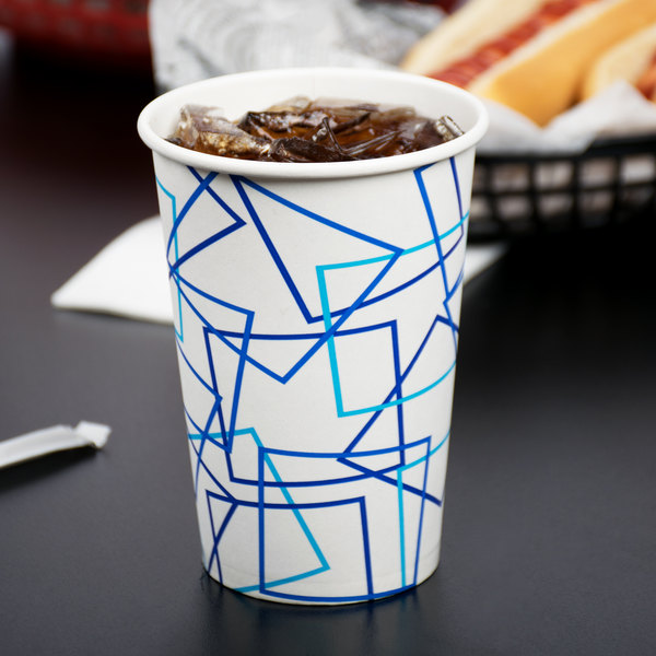 Choice 16 oz. Poly Paper Cold Cup - 1000/Case