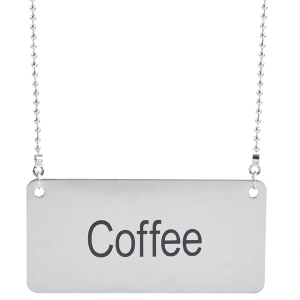 "Coffee Chafer Name Plate - ""Coffee"""