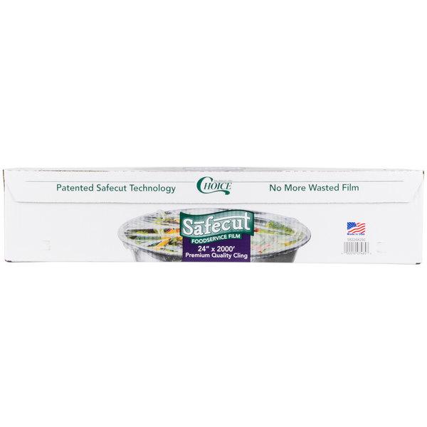 Choice Safecut 24 inch x 2000' Premium Foodservice Film with Slide Cutter
