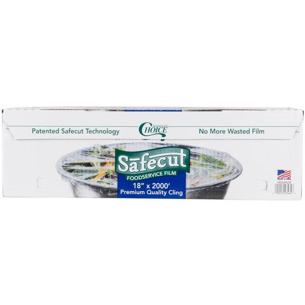 Choice Safecut 18 inch x 2000' Premium Foodservice Film with Slide Cutter