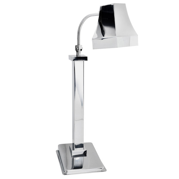 Eastern Tabletop 9611 Single Arm Stainless Steel Freestanding Heat Lamp with Square Shade and Swivel Neck