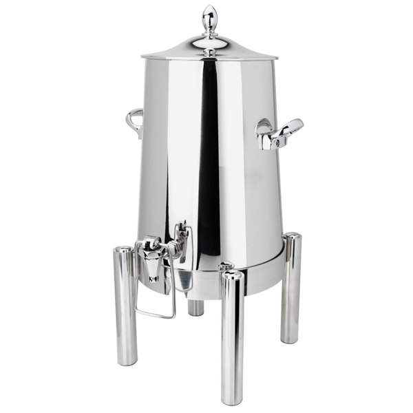 Eastern Tabletop 3023 Pillar'd 3 Gallon Stainless Steel Insulated Coffee Urn with Hands-Free Spigot