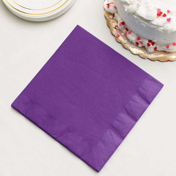 Amethyst Dinner Napkin, 3-Ply - Creative Converting 318928 - 25/Pack