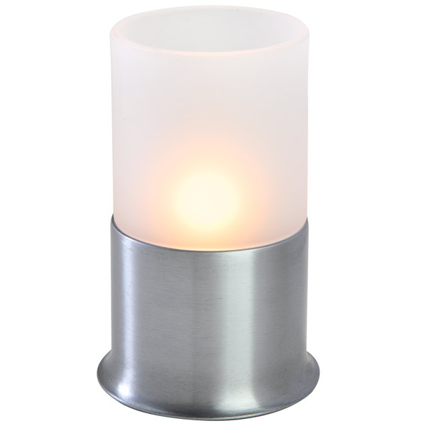 """Sterno Products 80374 Corsa Frost 5 1/2"""" Silver Lamp"""