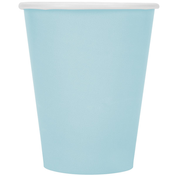 Pack of 6 Pastel Blue and Gold Paper Party Cups