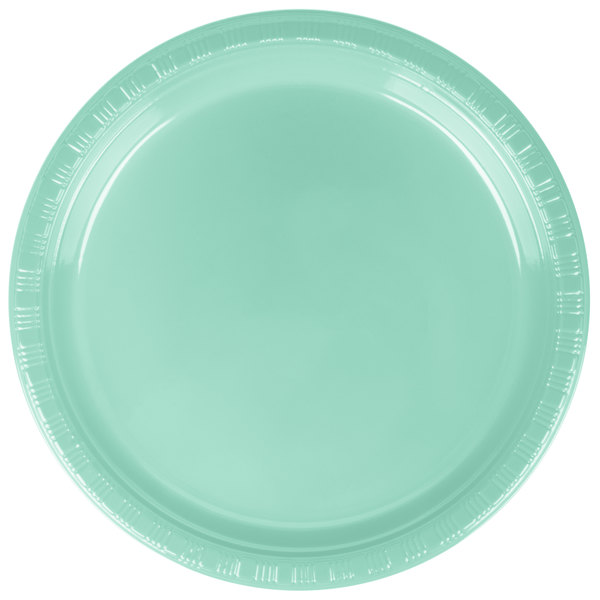 Add a splash of color to your next party with this Creative Converting 318877 7\  Fresh Mint Green plastic plate!  sc 1 st  WebstaurantStore & Creative Converting 318877 7\