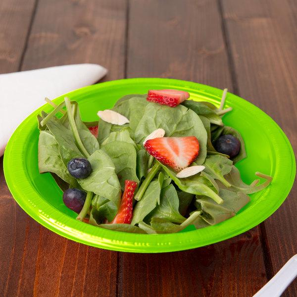 Creative Converting 28312351 12 oz. Fresh Lime Green Plastic Bowl - 20/Pack