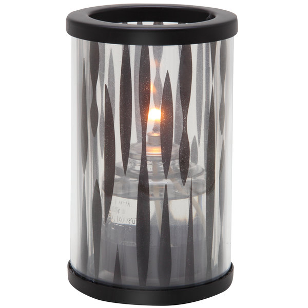 "Sterno Products 80472 Muse 5"" Zebra Black Lamp"