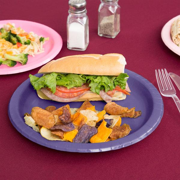 "Creative Converting 50115B 10"" Purple Paper Plate - 24/Pack"