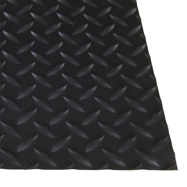 "Cactus Mat 1054M-C23 Cushion Diamond-Dekplate 2' x 3' Black Anti-Fatigue Mat - 9/16"" Thick Main Image 1"